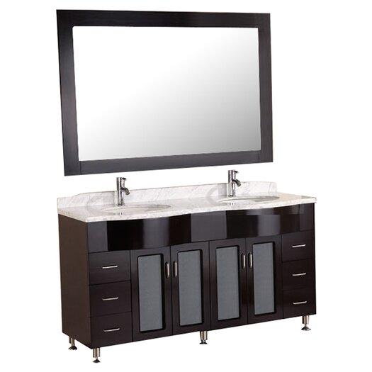 Design Element Belini Tustin One Double Bathroom Vanity Set With Mirror Allmodern