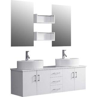 Virtu Enya  Double Bathroom Vanity Set With Mirror