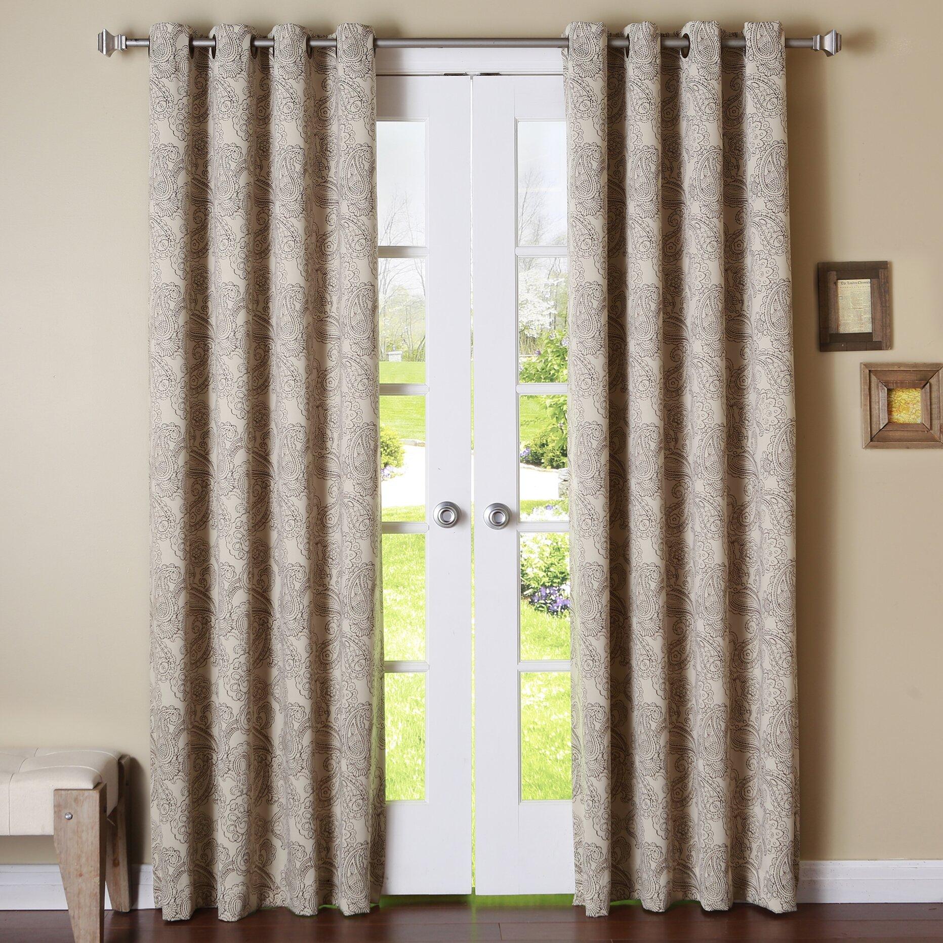 Paisley curtain panels