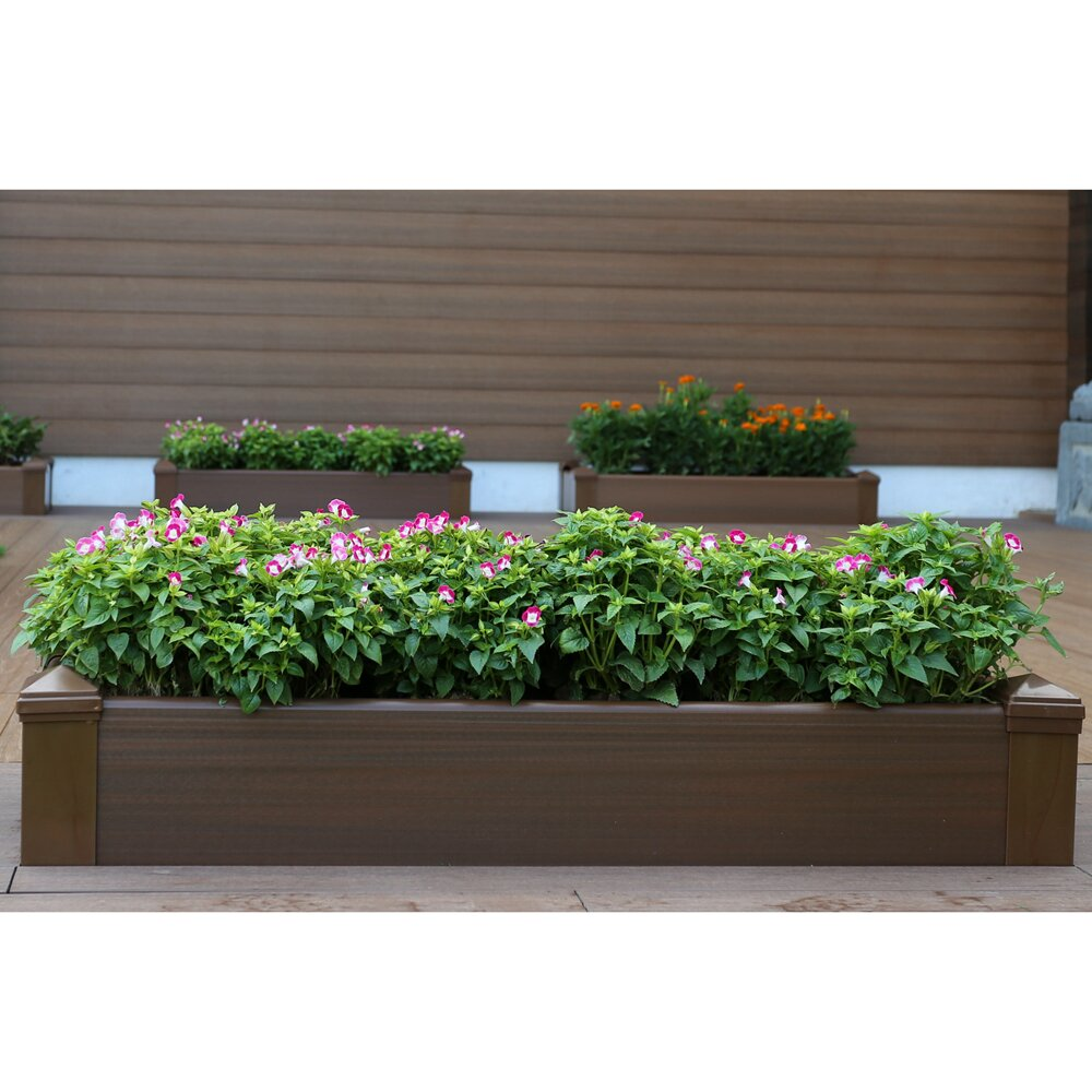 Composite Lumber Rectangular Patio Raised Garden Planter Box Wayfair