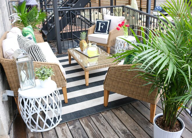 Before Amp After Odd Shaped Deck To Outdoor Oasis Wayfair