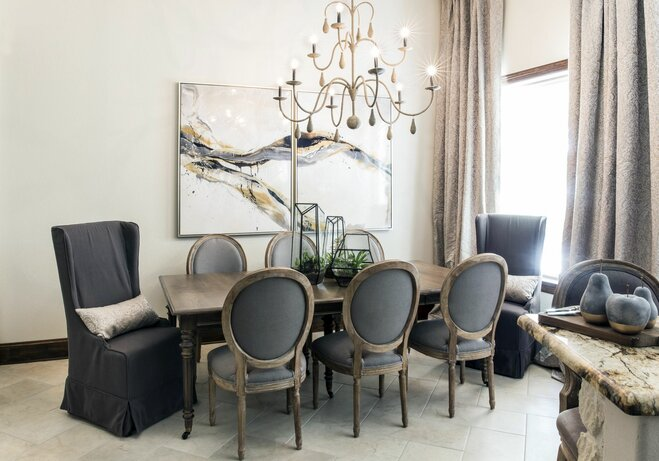 How to decorate a large wall wayfair for Decorating a large dining room wall