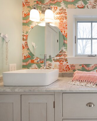 Back in style wallpaper wayfair for Wayfair bathroom wallpaper
