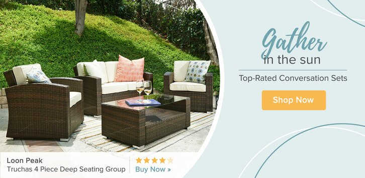 The perfect outdoor furniture set for your patio, back yard, front yard, garden, and poolside to entertain guests or relax with your family under the sun.