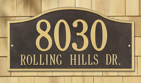 address plaques under 50