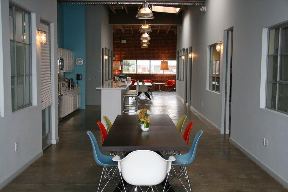 bright, bold, mid-century modern, eames Eclectic Entryway & Hallway design