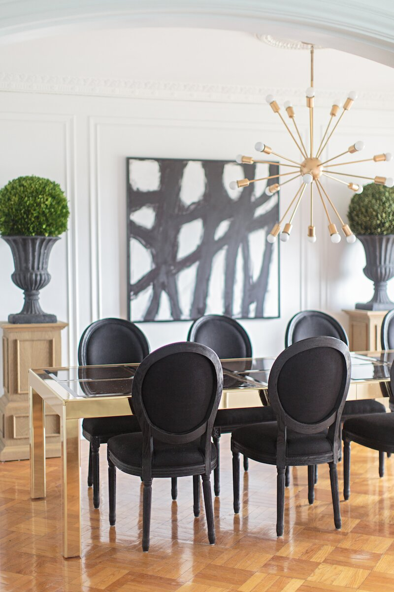 Glam Dining Room design