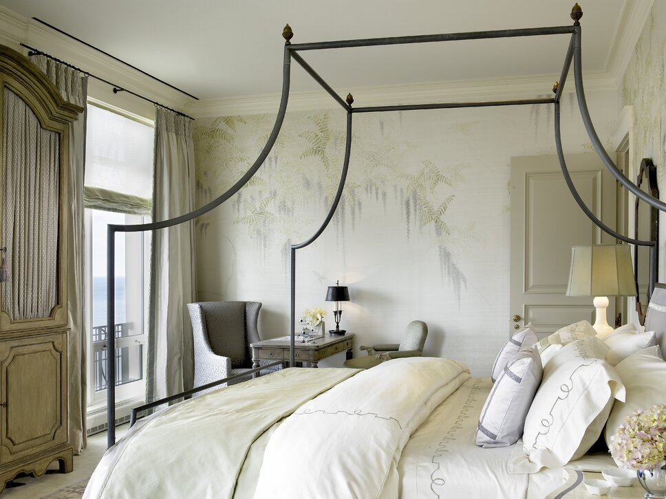 Lake Shore Drive Penthouse, Jessica Lagrange Interiors LLC, Photo by Tony Soluri Traditional Bedroom design