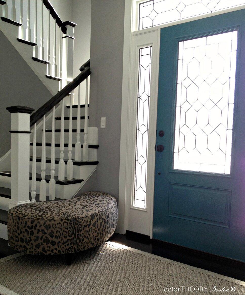 Eclectic Entryway & Hallway design