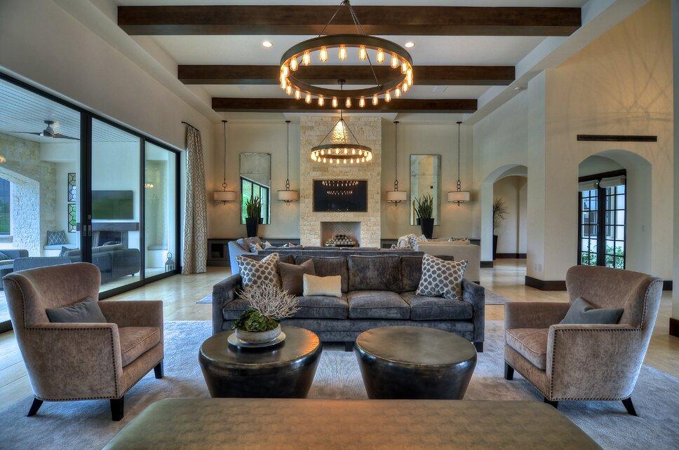 Photos Clay Bowman, Bowman Group Contemporary Living Room design
