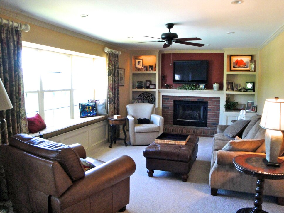 Completed by Inviting Interiors, Cherry Hill, NJ Eclectic Living Room design
