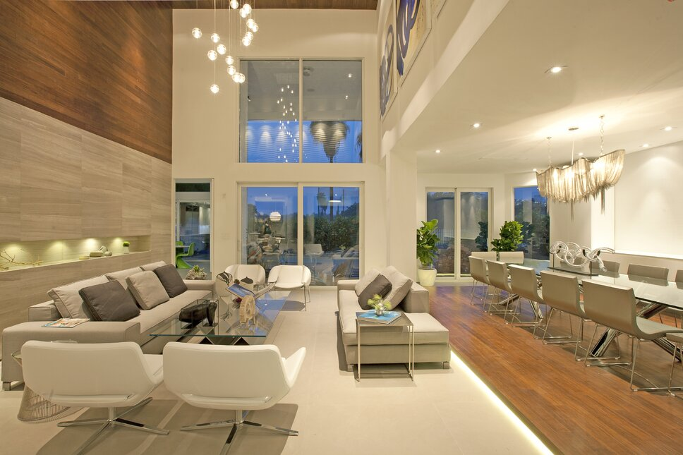 Residential interior design project in Miami, FL. Photos by Alexia Fodere. Modern Living Room design