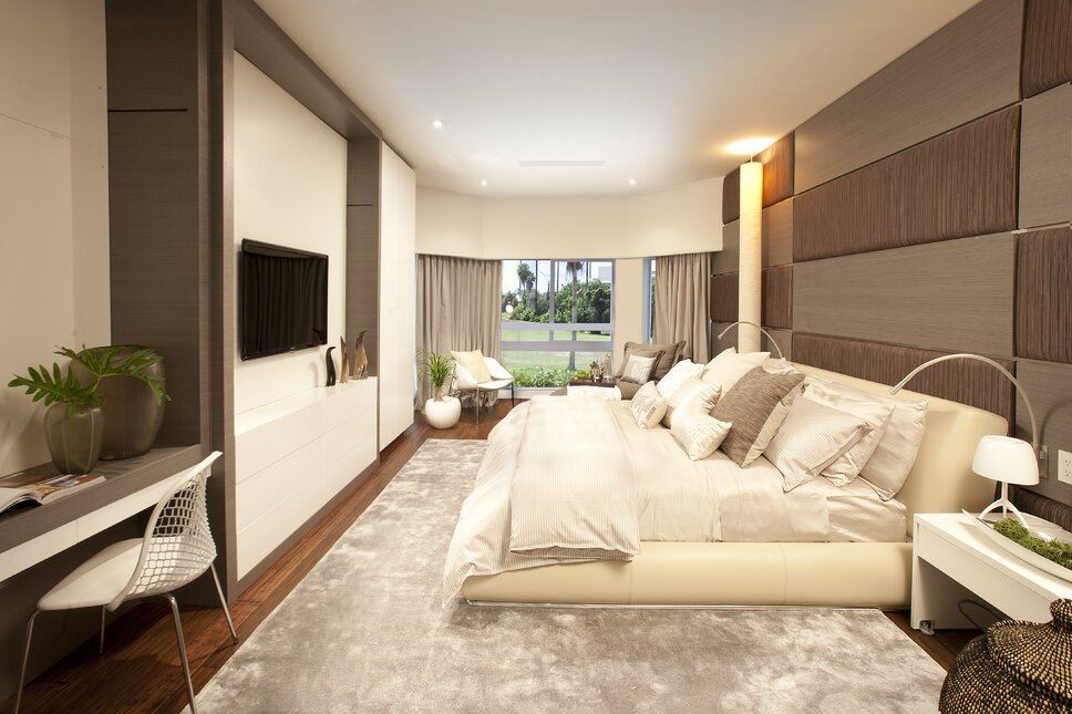 Residential interior design project in Miami, FL. Photos by Alexia Fodere. Modern Bedroom design