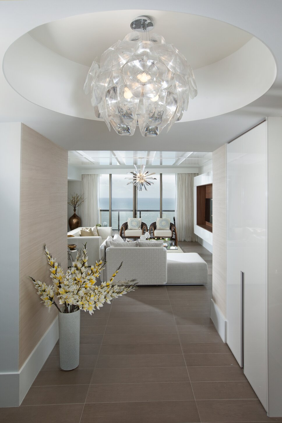 Residential interior design project in Sunny Isles, Florida. Photos by Alexia Fodere. Modern Entryway & Hallway design