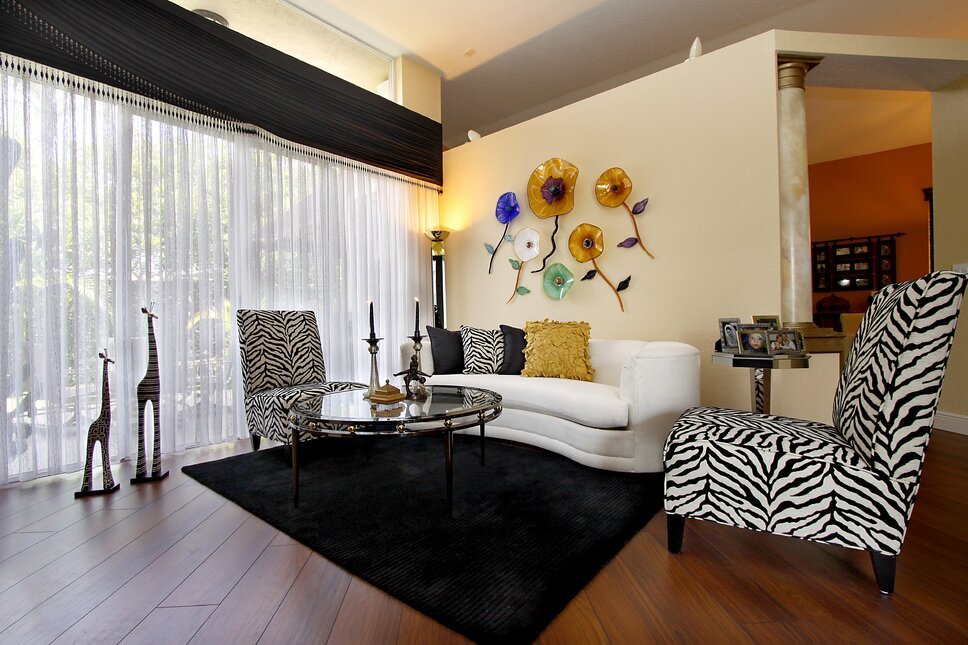 HK Interiors, Coral Springs FL Eclectic Living Room design