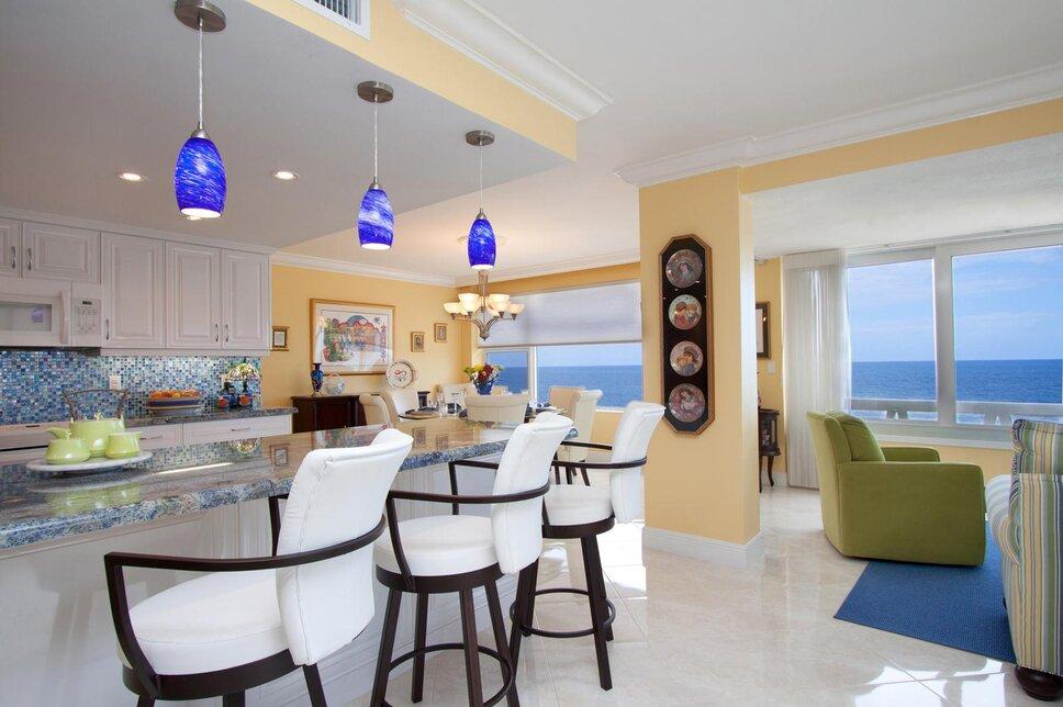 HK Interiors, Coral Springs FL Coastal Kitchen design