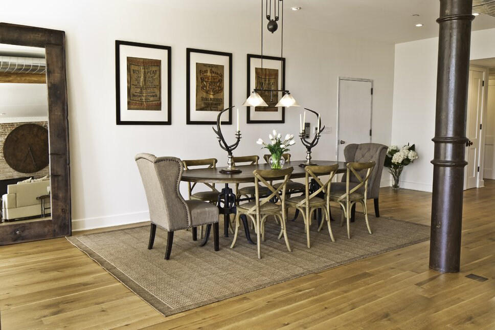 Photography by Francis Augustine Contemporary Dining Room design