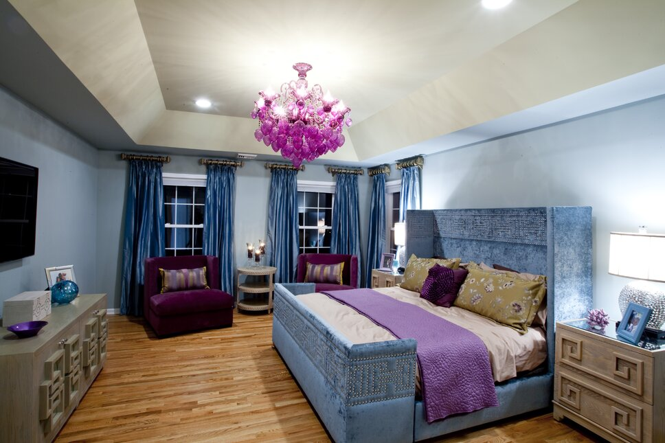 Glam Bedroom design