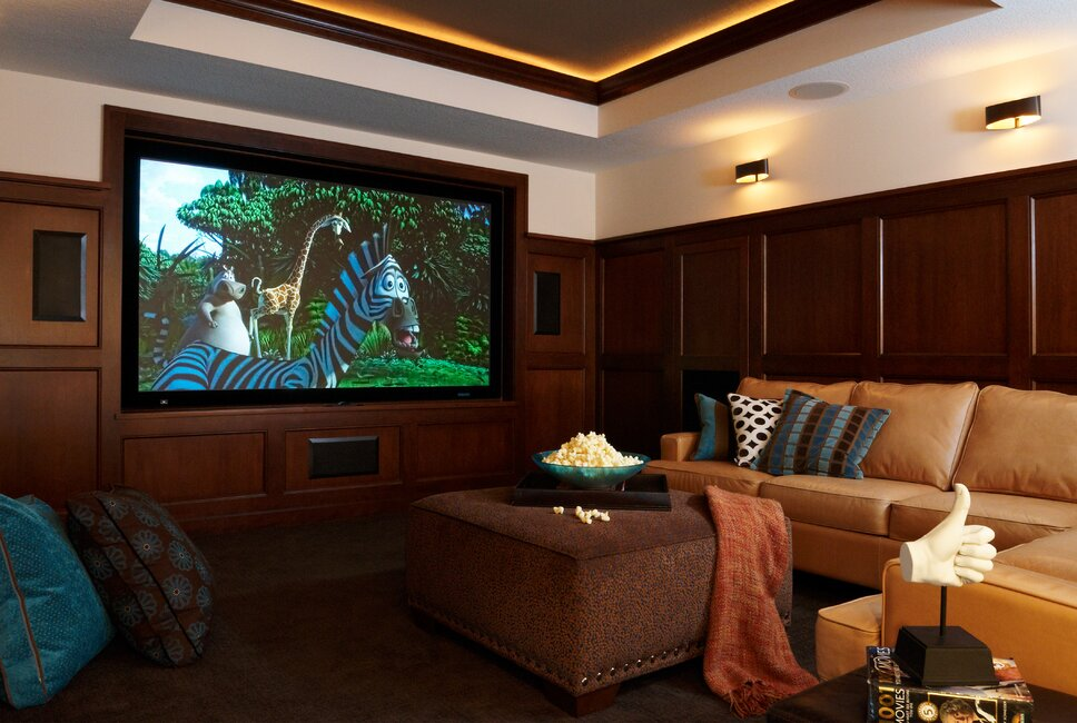 Contemporary Rec Rooms design
