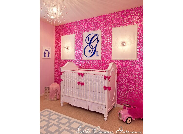 Design by Little Crown Interiors Glam Nursery design