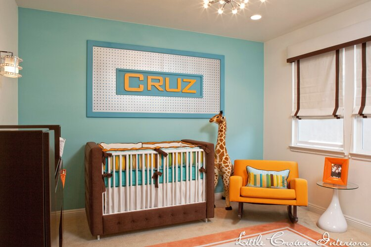 Design by Little Crown Interiors Contemporary Nursery design