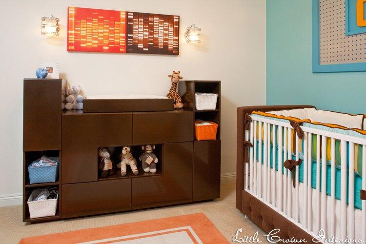 Design by Little Crown Interiors Modern Nursery design