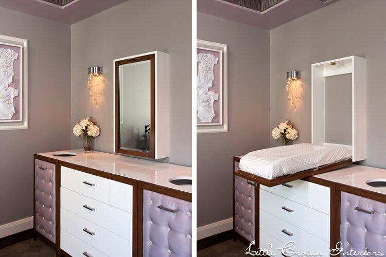 Design by Little Crown Interiors Glam Nursery design