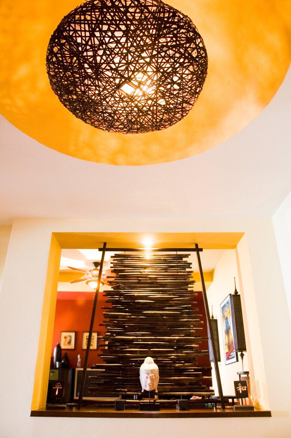 Stunning entryway to tropical luxury vacation rental in Baja, Mexico. Contemporary Entryway & Hallway design