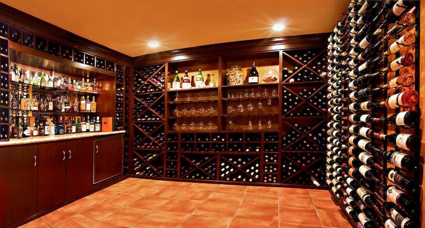 Custom wine cellar in Granada Hills home Traditional Storage design