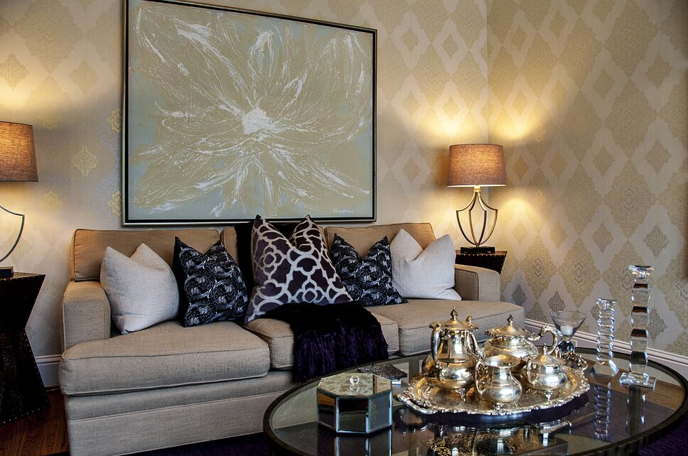 Glam Living Room design