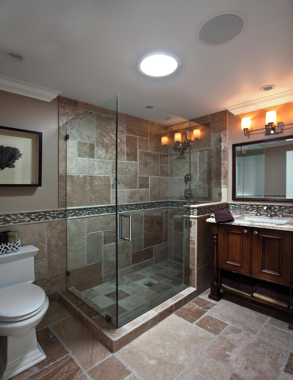 Photography by Ken Henry Contemporary Bathroom design
