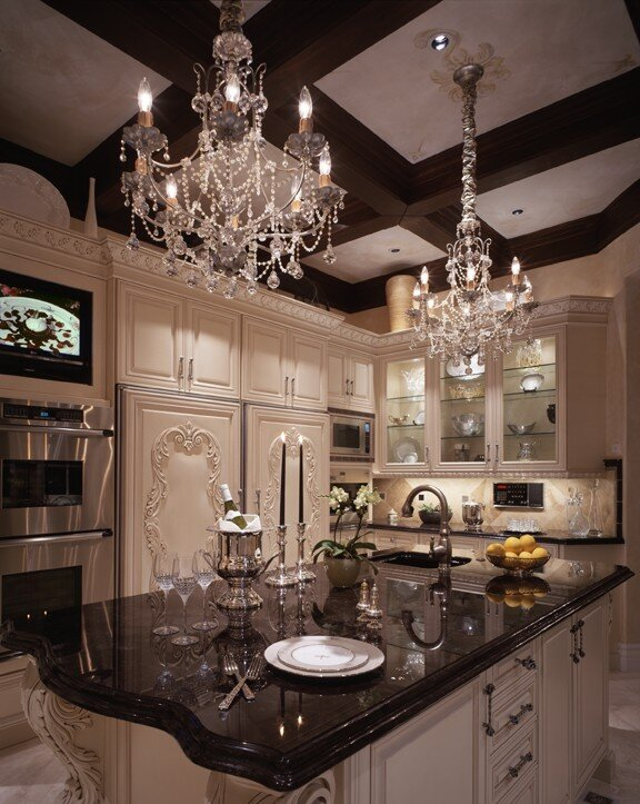 Photography by Martin King Glam Kitchen design
