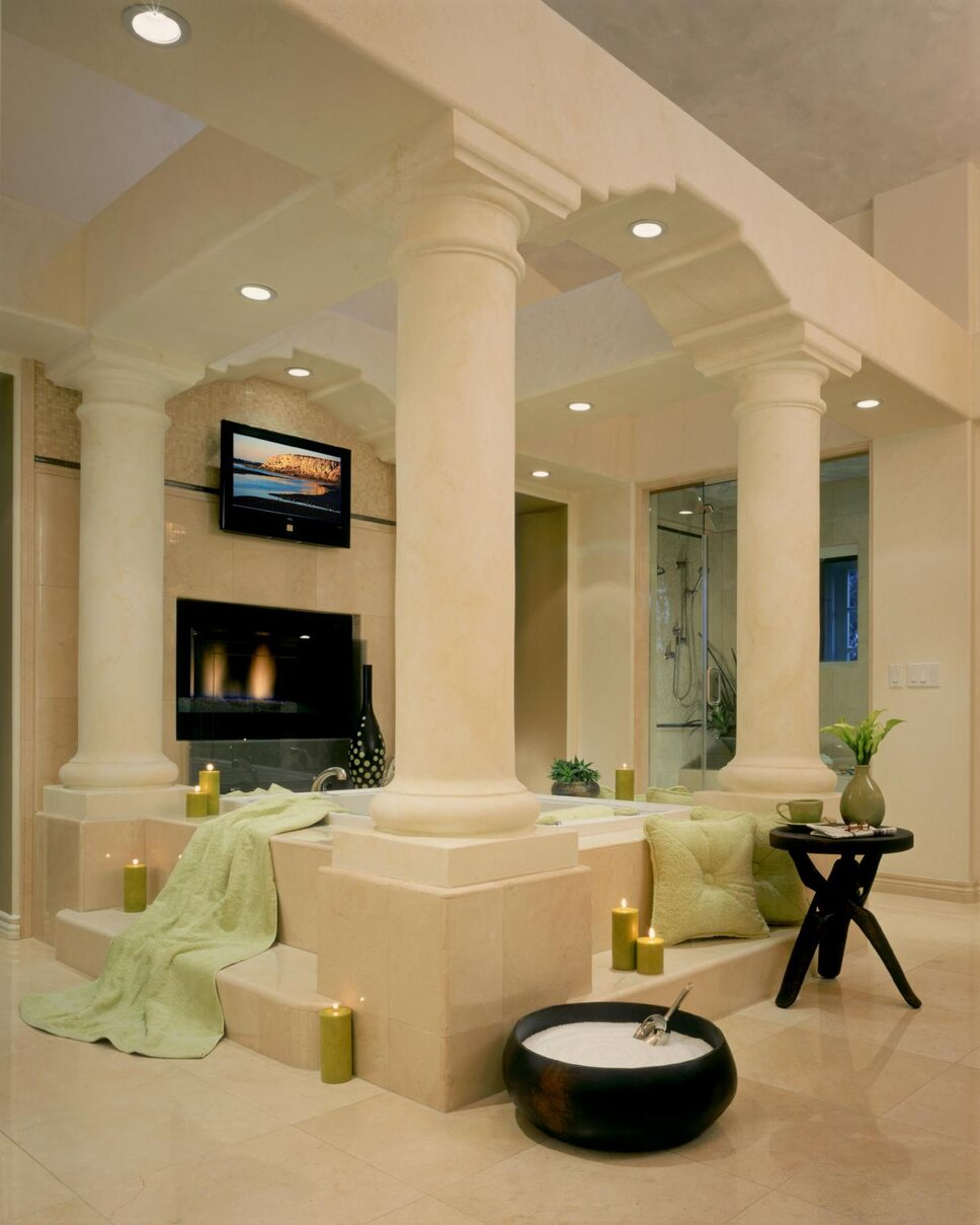 Photography by Martin King Traditional Bathroom design