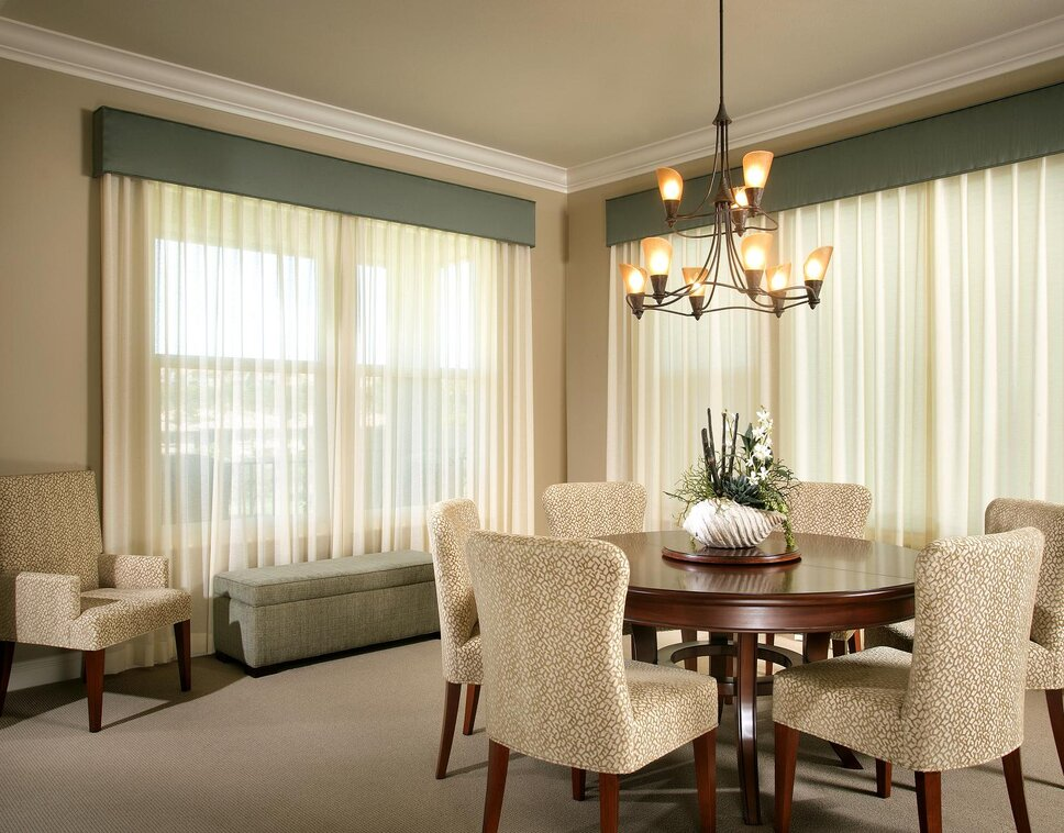 Photography by Anthony Gomez Coastal Dining Room design