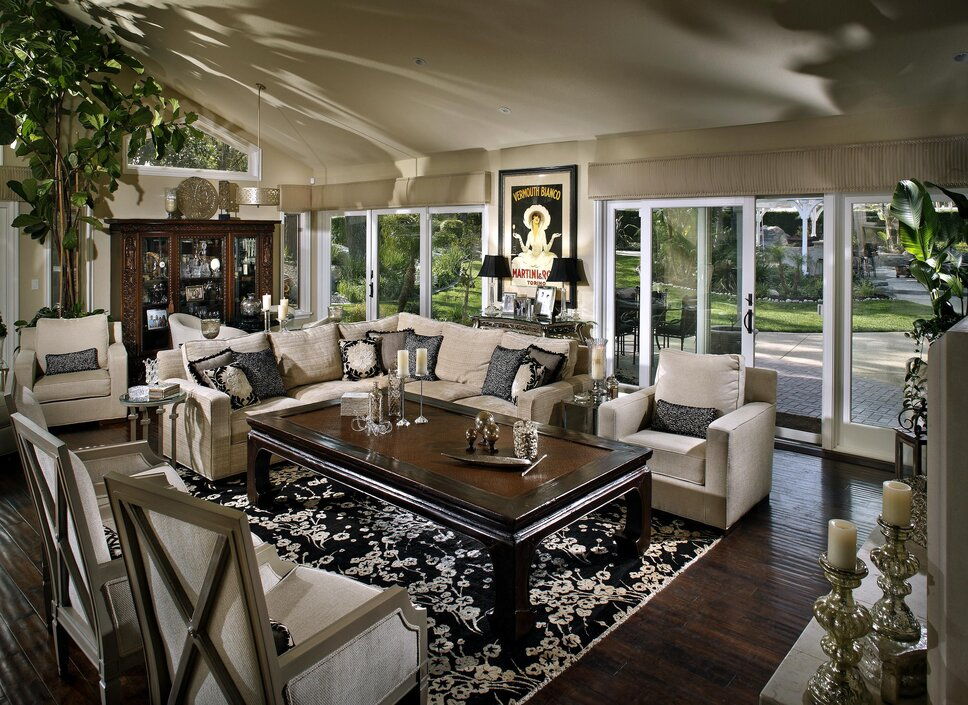 Photography by Anthony Gomez Contemporary Living Room design