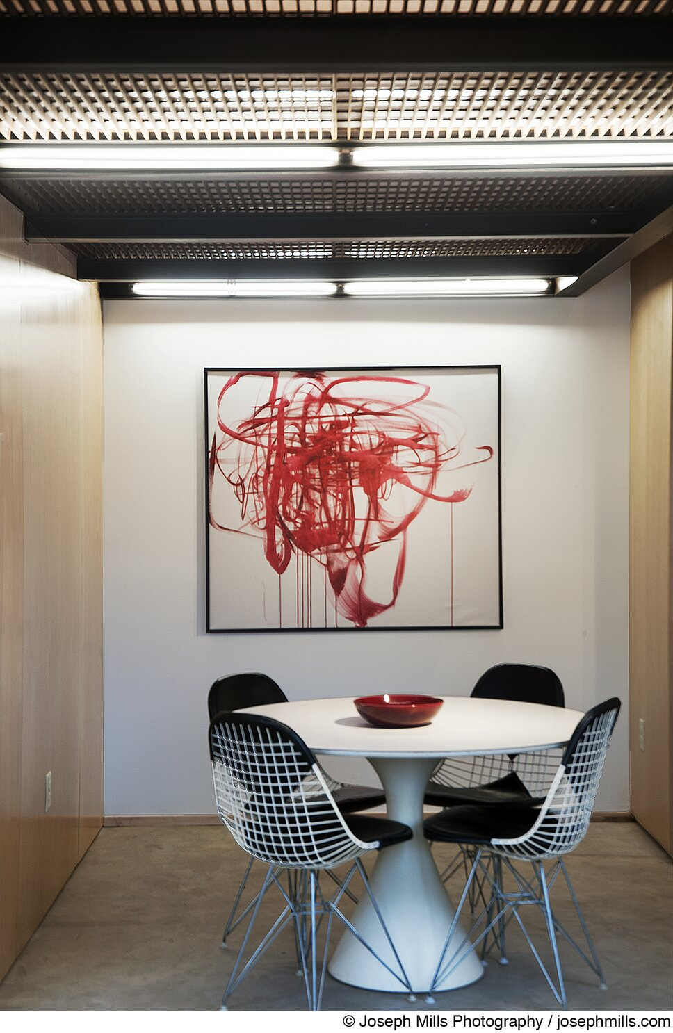 Photo by Joseph Mills Photography Industrial Dining Room design