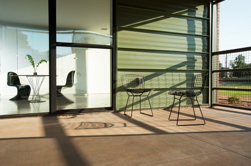 Photo by Joseph Mills Photography Modern Exterior, Deck, & Patio design