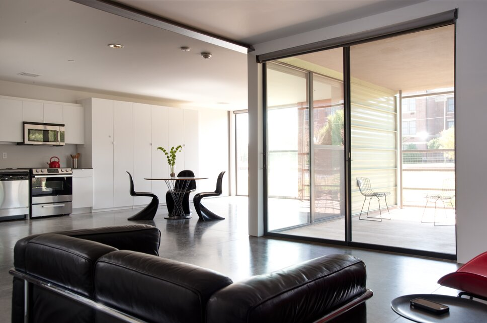 Photo by Joseph Mills Photography Modern Living Room design