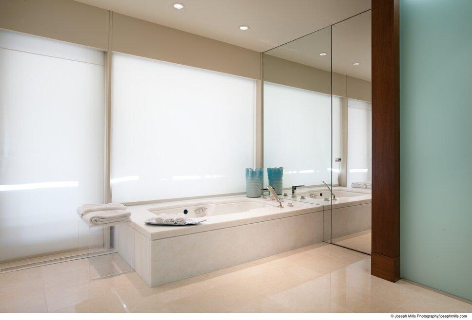 Photo by Joseph Mills Photography Modern Bathroom design