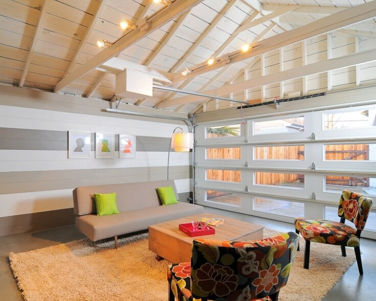 Garage, Living Room, Lounge Eclectic Living Room design