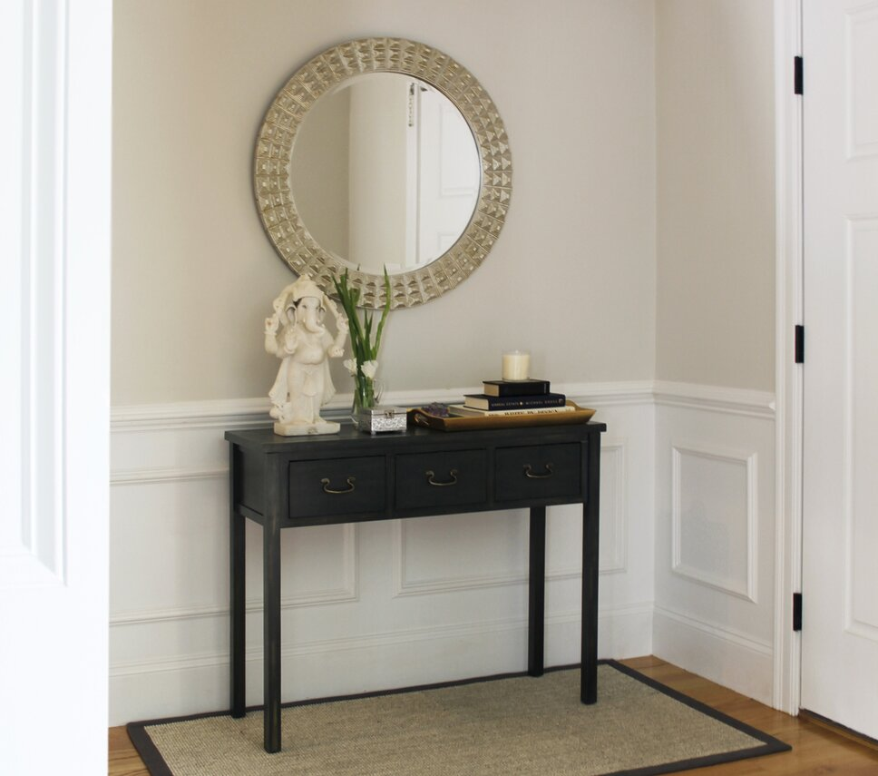 A traditional entryway with India influences. Traditional Entryway & Hallway design