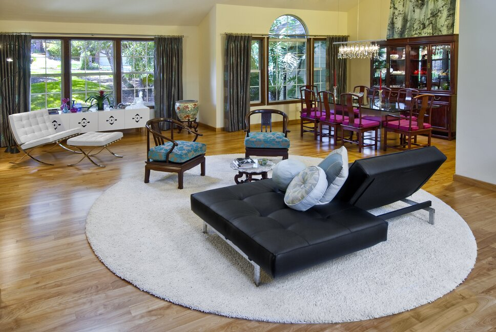 Eclectic Living Room design