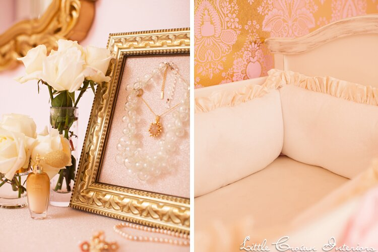 Nursery Design by Little Crown Interiors Photo by Full Spectrum Photography Glam Nursery design