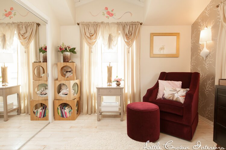 Nursery Design by Little Crown Interiors Photo by Full Spectrum Photography Eclectic Nursery design