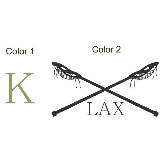 Alphabet Garden Designs Personalized Lacrosse LAX Monogram Wall Decal