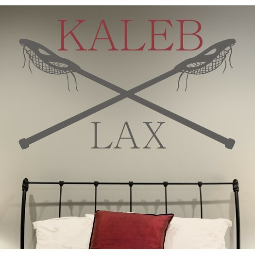 Alphabet Garden Designs Personalized Lacrosse Name LAX  Wall Decal