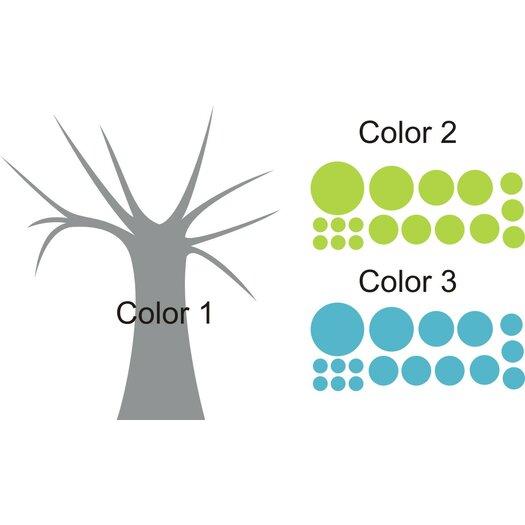 Alphabet Garden Designs Polka Dot Candy Tree Wall Decal