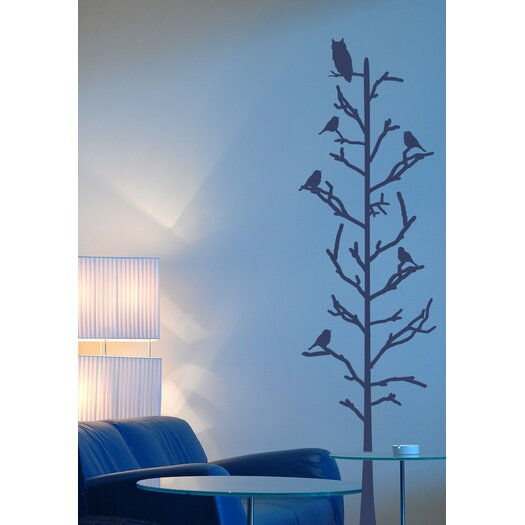 Stick Tree with Birds Wall Decal
