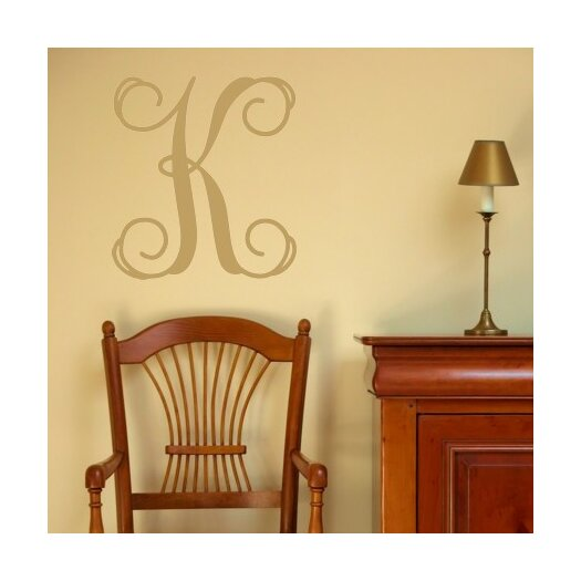 Personalized Single Fancy Monogram Wall Decal