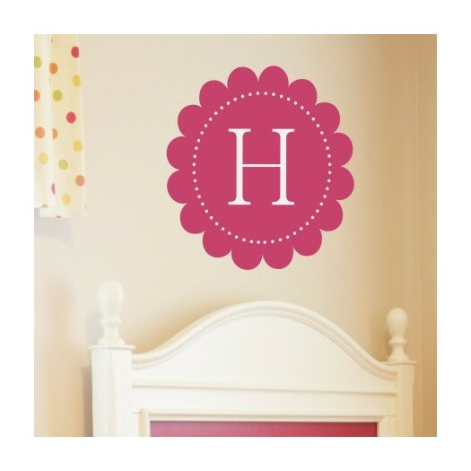 Alphabet Garden Designs Personalized Scalloped Monogram Wall Decal